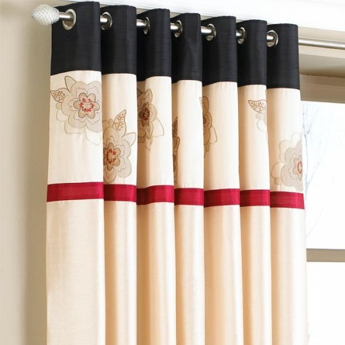 Black and cream curtains uk