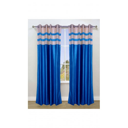 Pleated Curtain Blue