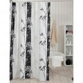 Glam Black & White Shower Curtain