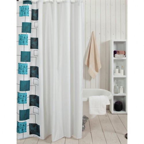 Glam Blue Box Shower Curtain