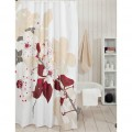 Glam Yellow Floral Shower Curtain